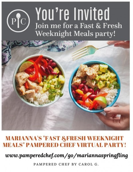 Marianna's Pampered Chef Virtual Party Invitation By Pampered Chef