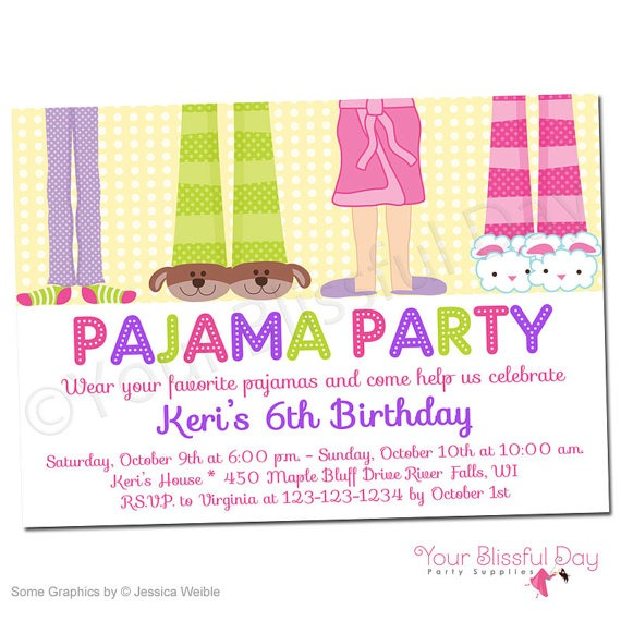 Pajama Party Invitation Pajama Party Invitation And The