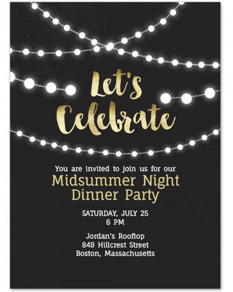 Paperless Engagement Party Invitations Evite String Lights Vert
