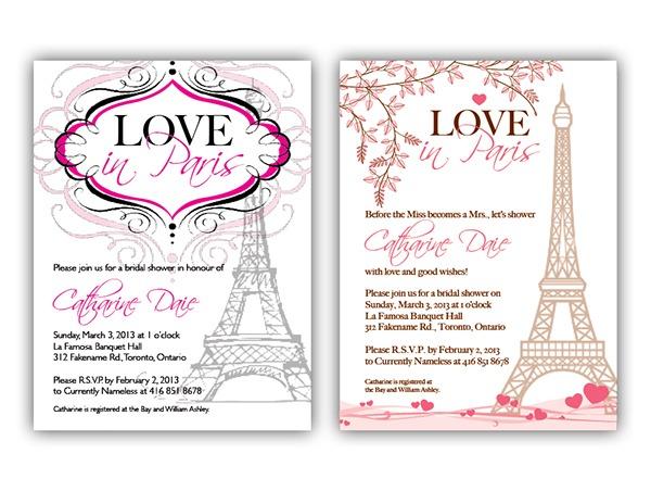 Imágenes De Paris Inspired Bridal Shower Invitations