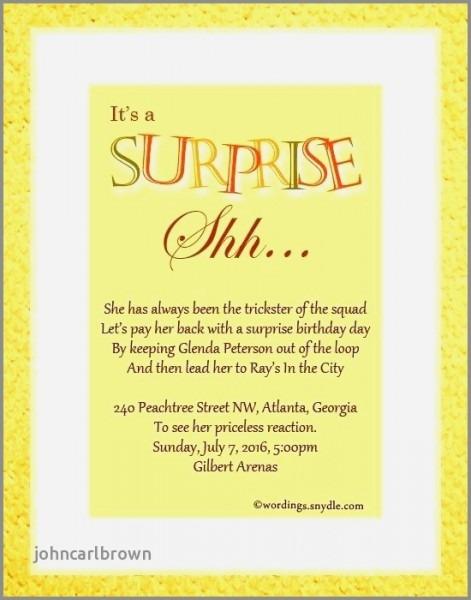 Park Birthday Party Invitation Wording Fresh Funny Surprise 50th