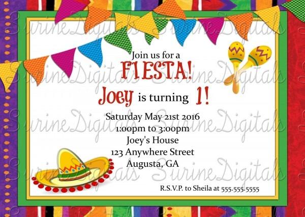 Spanish Party Invitations Great Spanish Party Invitations