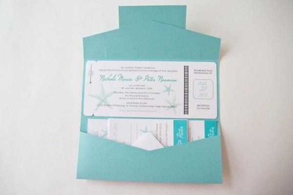 Passport Pocket Style Invitations • Destination Wedding
