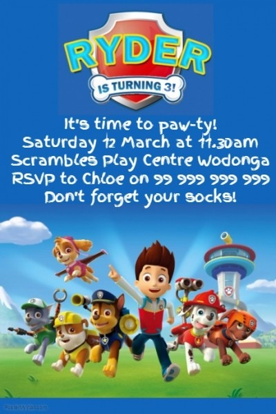 Paw Patrol Party Invitation Poster Template Cfcecacecddcffda