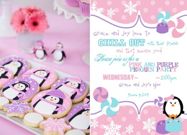 Pink And Purple Penguin Party – Glorious Treats