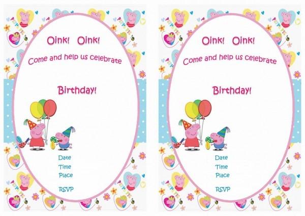 Peppa Pig Birthday Invitations – Birthday Printable