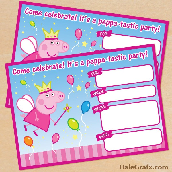 Peppa Pig Birthday Invitations Free Downloads Simple With Peppa