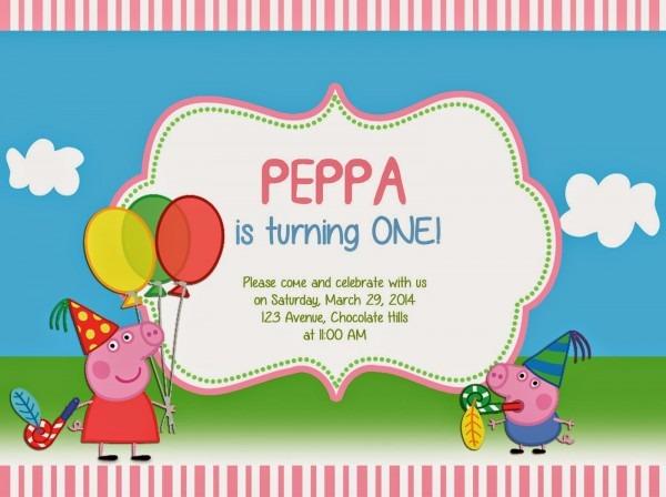 I Make I Share  Peppa Pig Invitation