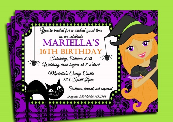 Perfect Halloween Themed Birthday Party Invitations 39 On