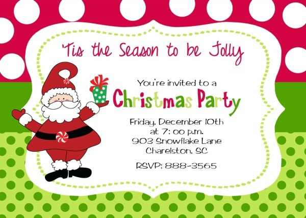 Perfect Invitation For A Christmas Party 87 In Invitation Design