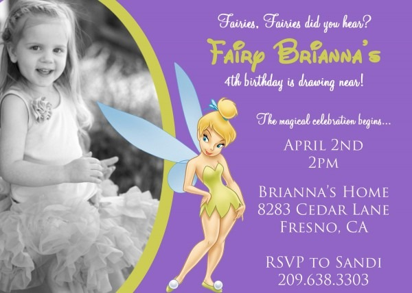 Perfect Tinkerbell Birthday Invitations 11 For Your Invitation