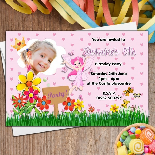Invitation Ideas  Fairy Birthday Invitations