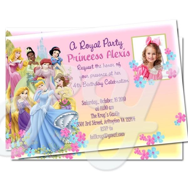 Personalized Disney Princess Birthday Invitations — Birthday