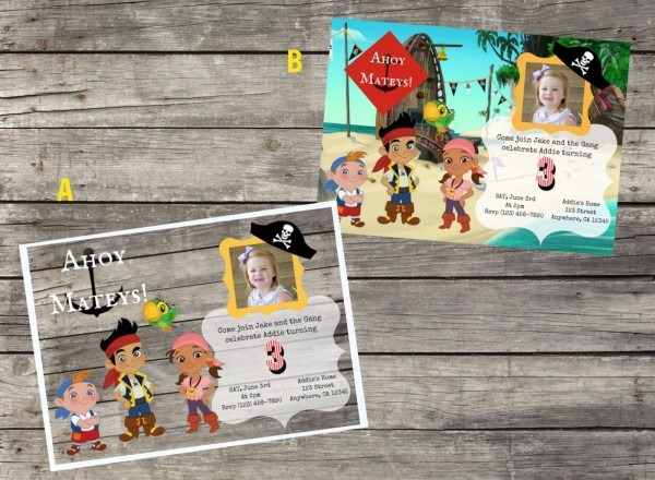 Personalized Jake And The Neverland Pirates Birthday Invitation
