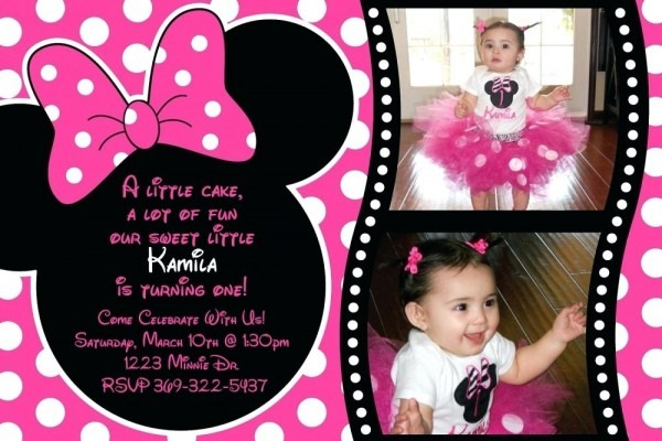 Personalized Minnie Mouse Birthday Invitations Popular With