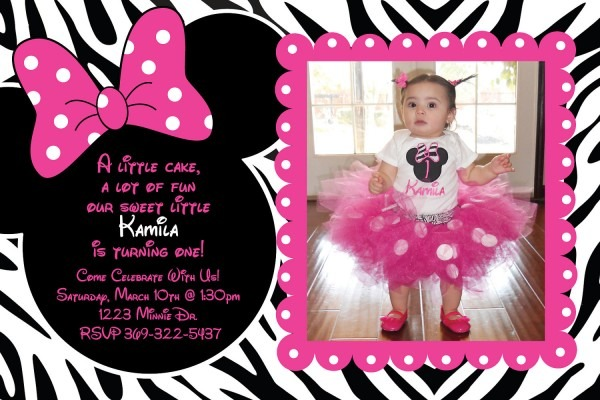 Personalized Minnie Mouse Birthday Invitations Unique With
