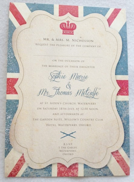 High Quality Images For British Themed Wedding Invitations Retro