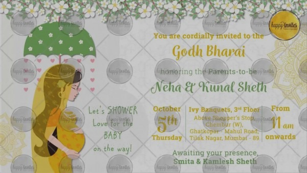 New Indian Baby Shower Invitations