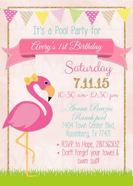 Flamingo Party Invitations  Flamingo Party Invitations And