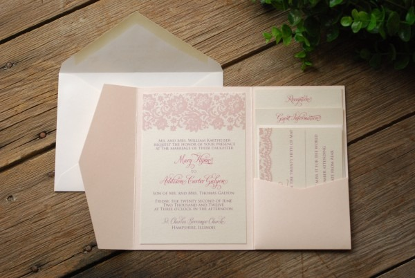 Pink Wedding Invitation Kits