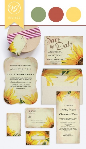 Sunflower Wedding Invitation – Wedding Invitations West Palm Beach