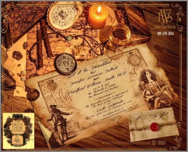 Pirate Themed Wedding Invitations Admirable Pirate Scroll Box