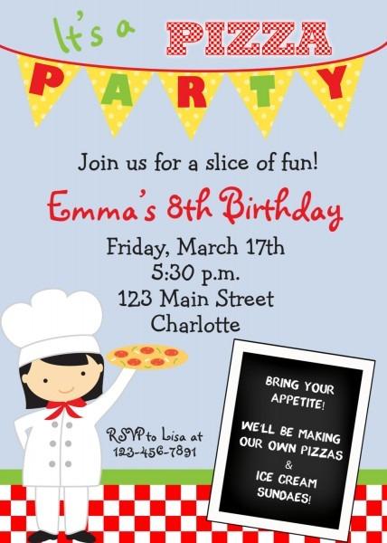 Pizza Party Invitation Pizza Party Invitation Also Have Beauteous