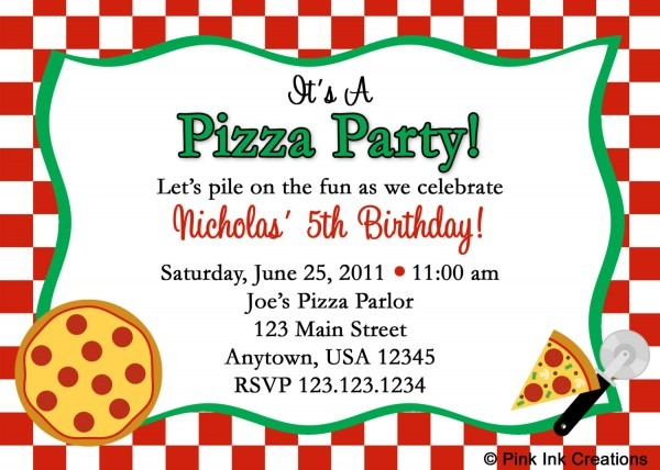 Pizza Party Invitation Template Superb Pizza Party Invitations