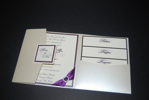 Pocketfold Wedding Invitations Pocketfold Wedding Invitations With