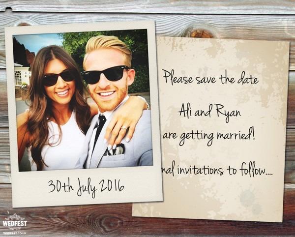 Polaroid Wedding Save The Date Cards