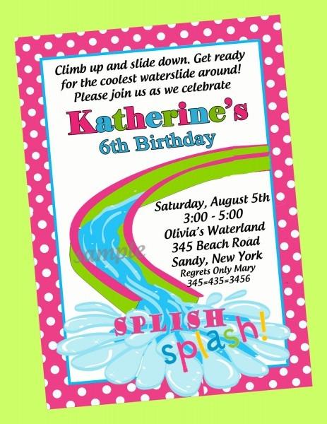 Pool Party Birthday Invitations Pool Party Birthday Invitations