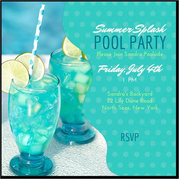 Swim Party Invitations Free Printable Free Download Free Pool