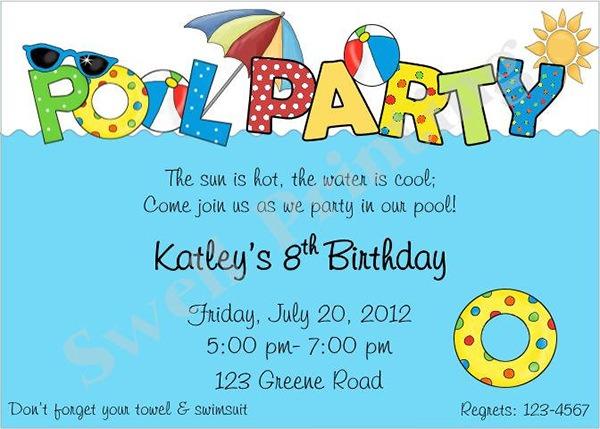 Pool Party Invitations Templates Free Invitation Template 38 Psd