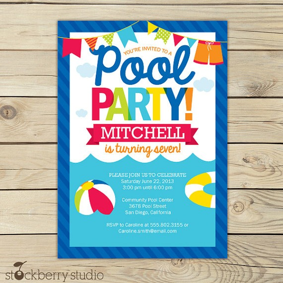 Pool Party Invite Pool Party Invite For Best Results And