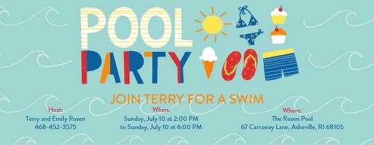 Pool Party Birthday Invitations Luxury Birthday Pool Party