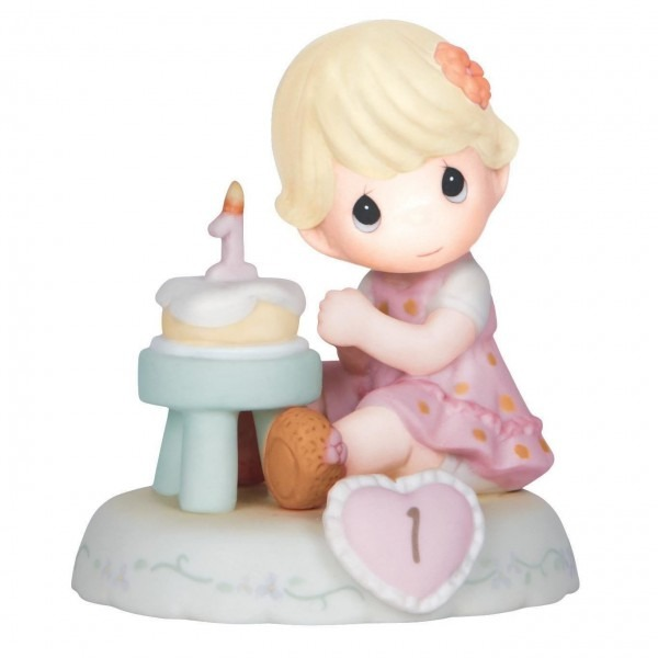 Precious Moments® Growing In Grace Blonde Hair Girl With Birthday
