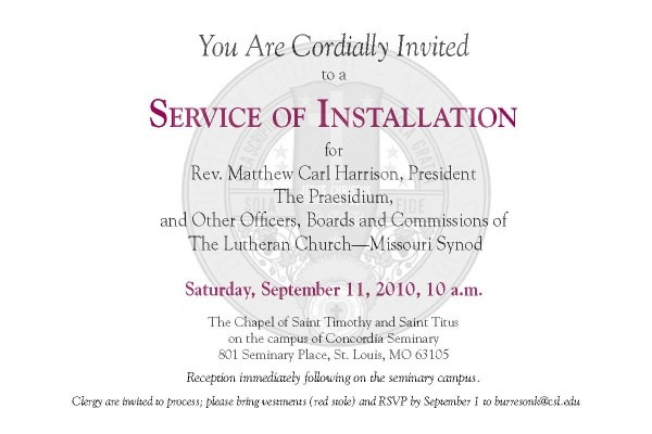 The Abc3s Of Miscellany  Service Of Installation Invitation For
