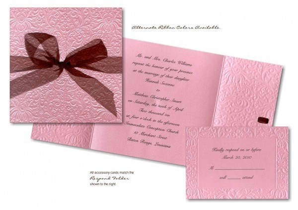 Pink Wedding Invitations  Blue And Pink Wedding Invitations
