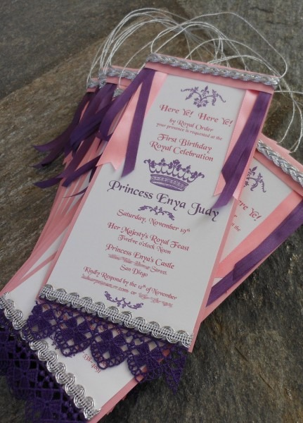 Kim Grant, Ink & Such  Here Ye! Here Ye! Princess Party Invitation!