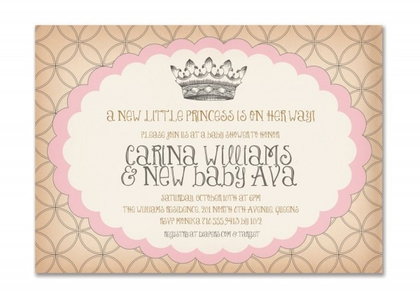 Princess Baby Shower Invitations Templates Fabulous With Princess
