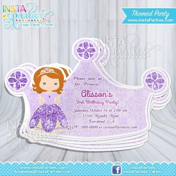 Princess Sofia Invitations, First Princess Sofia Invitation