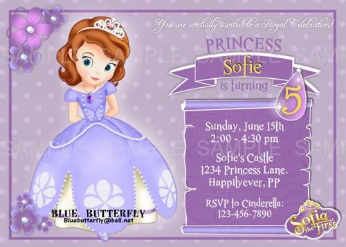 Custom Sofia The First Invitations 89673