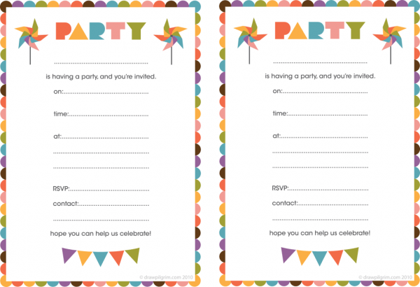 Create Free Invitations To Print Superb Create And Print Birthday