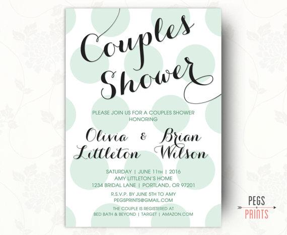 Couples Shower Wedding Invitations Zazzle
