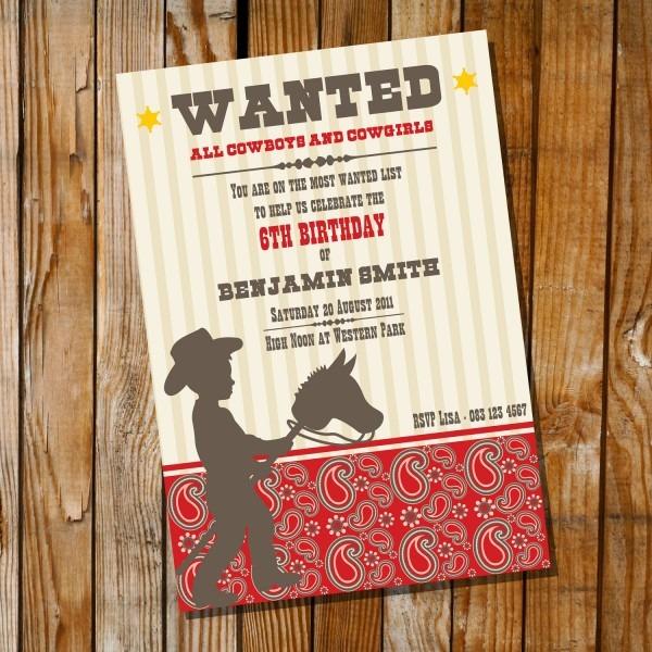 Dorable Cowgirl Birthday Invitation Wording Model Invitations