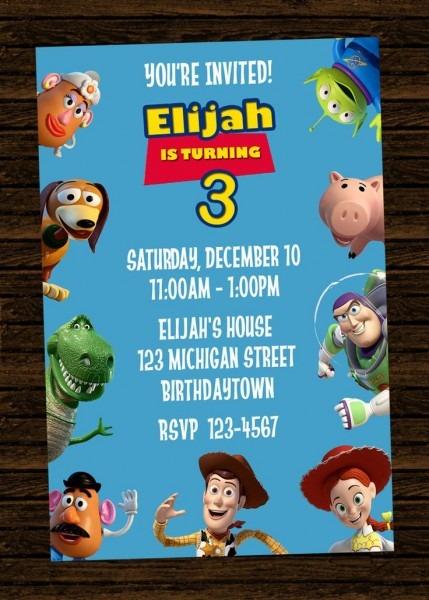 Printable Invites Party Pkgs New Toy Story Birthday Invitations