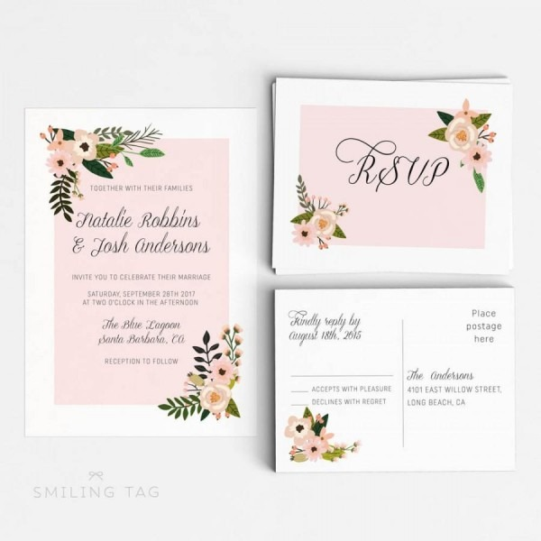 Printable Wedding Invitation Suite Printable