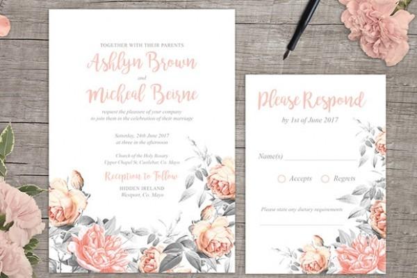 Printable Wedding Invitation Templates Stunning With Printable