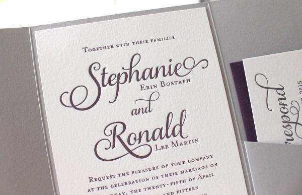 Printed Wedding Invitations Printed Wedding Invitations With