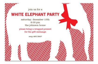 White Elephant Party Invitations Beautiful White Elephant